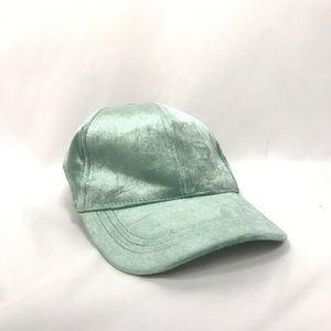 8d0313b87f68a ASOS Seafoam Green Velvet Baseball Hat